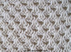 Tunisian Crochet-Small Shell Stitch Pattern