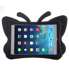 For+iPad+Mini+1/2/3+Black+Butterfly+EVA+Protective+Case+with+Holder