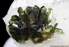 Olivenite, Cu2AsO4(OH), Clara Mine, Wolfach, Black Forest, Germany.  Size 5 mm. Copyright:Matteo Chinellato