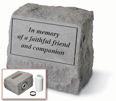 """""""In memory of a faithful friend and companion"""" Urn   #petloss #petsympathy #sympathyquotes #sympathygifts #petsympathygifts #personalizedsympathygifts #memorialgifts #condolencegifts #memorials #expressingsympathy #grief   http://www.thecomfortcompany.net/"""