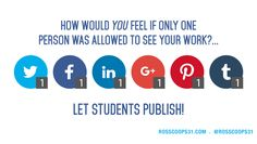 Fantastic Graphic and Topic!: Why write for your teacher when you can publish for the world?