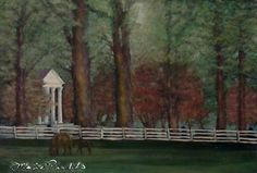 A place of tranquility (Circa 2014, , oil on board, 18x32 Collection: Maria Panlilio)