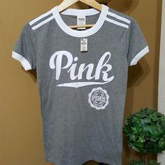 NWT PINK SHIRT NWT PINK SHIRT! PINK Victoria's Secret Tops Tees - Short Sleeve