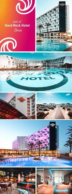 Das Hard Rock Hotel auf Ibiza ist ein echtes Meisterwerk. Das 5 Sterne-Hotel glänzt mit edlem Design, grandiosem Service und toller Lage direkt am feinen Sandstrand von Sant Jordi de ses Salines, auf Ibiza. Hard Rock Hotel Ibiza, Ibiza Hotel, Small Spa, Small Pools, Cancun, Pool Party Images, Pool Rails, Las Vegas, Curious Cat