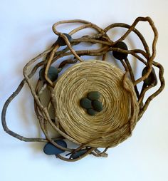 Fibre Sculptures - contemporary basketry - Catriona Pollard