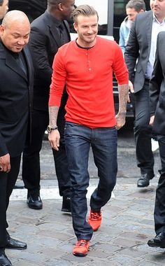 Sexy David Beckham - Red Hot! One of my Faves!