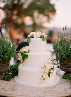 While many of the real weddings we feature online and in the magazine include extravagant wedding cakes with towering layers, intricate details, and hundreds o… Plain Wedding Cakes, Extravagant Wedding Cakes, Wedding Cake Images, Wedding Cake Fresh Flowers, Fresh Flower Cake, Amazing Wedding Cakes, Elegant Wedding Cakes, Rustic Wedding, Boho Wedding