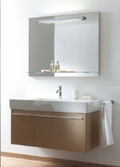 Replace both old vanity with new floating vanity and basin sink Http://www.qualitybath.com/duravit-x-large-wall-mounted-vanity-unit-31-12-w-x-17-58-h-x-18-12-d-product-92102.htm?utm_source=google&utm_medium=cse&utm_campaign=Duravit&utm_term=92102&utm_content=bathroom+vanities&gclid=CLLXwp6Ypr8CFUwV7AodaikAWA