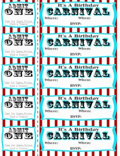 Free printable carnival party invitation Side show circus doll Cut out for carnival party! Carnival Birthday Invitations, Carnival Tickets, Circus Carnival Party, Circus Theme Party, Carnival Birthday Parties, Circus Birthday, Birthday Invitation Templates, Party Themes, Party Ideas