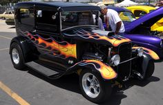 Classic Hot Rod Flames | flames may not make them hot rods, but it makes them…