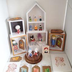 К выставке в Японии все готово , осталось только отправить :) #porcelain #porcelaintoy #dollechka #doll #bisquedoll #bisque #cat #corals #moon #butterfly #bear #miniature #луна #фарфор #кот #кошка #art #arttoy #fantanima #fantanima2015