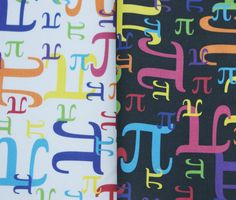 Pieces of Pi Kona Cotton Math Fabric  1 Yard by robyriker on Etsy, $20.00
