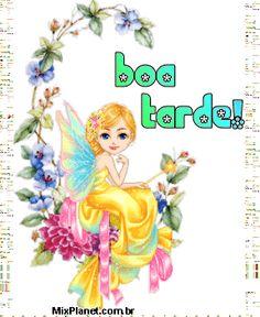 orkut e hi5, Boa Tarde, fada, asa, flor, bonitas