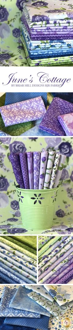 June's Cottage by Briar Hill Designs is a beautiful floral collection from RJR Fabrics available at Shabby Fabrics