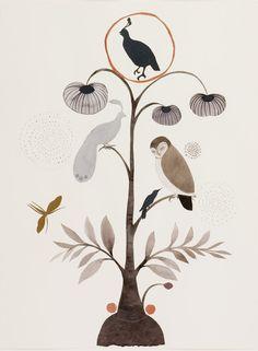 birdy tree // ink // Lena Wolff