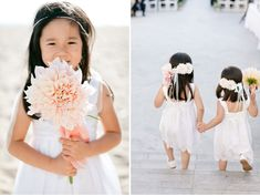 Pretty pink flowers for these adorable #flowergirls