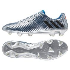 size 40 a8fdf fb066 Adidas Messi 16.1 FG Soccer Cleats (Silver Metallic Black Shock Blue)