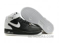 http://www.getadidas.com/nike-air-force-1-mid-white-black-white-free-shipping.html NIKE AIR FORCE 1 MID WHITE BLACK WHITE FREE SHIPPING Only $54.25 , Free Shipping!