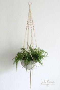 """Makramee Blumenampel 135 cm / Macrame Plant Hanger 53"""" von byJadaDesigns auf Etsy Mehr"""