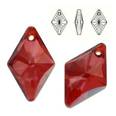 6320 Rhombus 27mm Red Magma  Dimensions: 27,0 mm Colour: Crystal Red Magma 1 package = 1 piece
