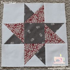 free beginner quilt blocks | Piece N Quilt: Block of the Month {Twin Star} Month 5