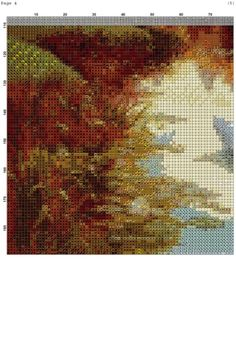 Gallery.ru / Фото #1 - PAISAJE 26 - marilyn2 Cross Stitch Designs, Cross Stitching, Beautiful Landscapes, Castle, Embroidery, Nature, Outdoor, Swan, Yellow