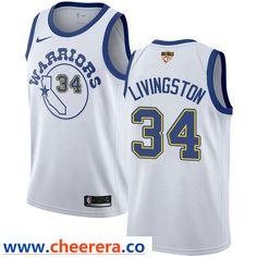 8351fc184 Nike Warriors  34 Shaun Livingston White Throwback The Finals Patch NBA  Swingman Hardwood Classics Jersey · Nba Golden State ...