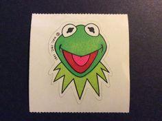 Vintage 80s Hallmark Sticker Mod RARE - Kermit the Frog - Mint!! #Hallmark #Mod