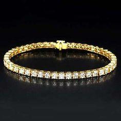 Women Diamond Tennis Bracelet 12 Carat F by DiamondsJewelForever