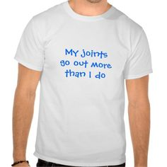 """Front: """"My joints go out more than I do"""" Back: """"Ehlers Danlos Syndrome Awareness"""" with zebra picture"""
