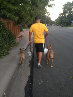 Felisha, a Member Service Rep at our downtown branch, walks her pups for the Miracle Marathon
