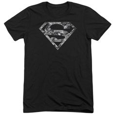 Superman Urban Camo Shield Adult Tri-Blend T-Shirt