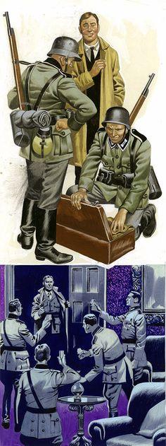espionage in world war two original by ron embleton