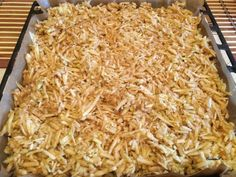 Prajitura lenesului – Sa Gatim cu Gina Romanian Food, Coconut Flakes, Macaroni And Cheese, Bakery, Deserts, Dessert Recipes, Food And Drink, Cooking Recipes, Sweets