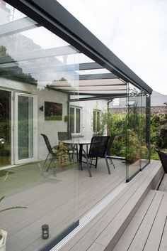 Installation service available. Contact us to request a quote for your Panorama glass room. Garden Room Extensions, House Extensions, Backyard Patio Designs, Pergola Patio, Gazebo, Kleiner Pool Design, Rooftop Terrace Design, Back Garden Design, House Extension Design