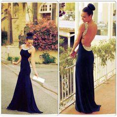 Beautiful sequined backless evening dress. Stunning!