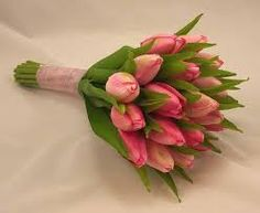 tulip and lily bouquet - bridesmaids