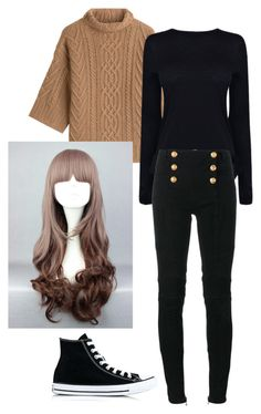 """""""Mystic messenger : MC"""" by the-mighty-fail on Polyvore featuring MaxMara, Converse, Helmut Lang and Balmain"""