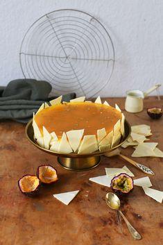 American Cheesecake mit Passionsfruchtspiegel   Rezept