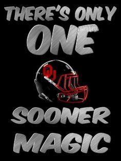 THERES ONLY ONE OU SOOBER MAGIC    #BOOMER SOONER   via:  Sooner til Death