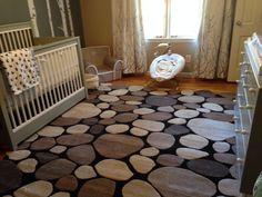Nursery pebble rug