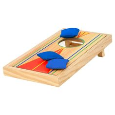This easy game is ideal for endless family fun and perfect for kids ages 18 years and up. This tabletop sports games features manual scoring.. Desktop Bag Toss Tabletop Sports Games #Toys #IndoorToys #BoardGamesandCardGames #TabletopSportsGames