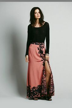 Free People Secret Garden Maxi Skirt on shopstyle.com