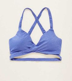 Aerie Shimmer Wraparound Bralette. Let the real you shine! #Aerie