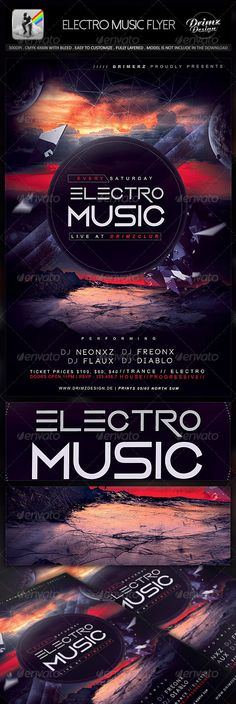 Electro Music Flyer Template PSD | Buy and Download: http://graphicriver.net/item/electro-music-flyer/8713700?WT.ac=category_thumb&WT.z_author=drimerz&ref=ksioks
