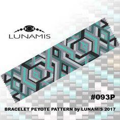 Peyote bracelet pattern even count peyote by LunamisBeadsPatterns