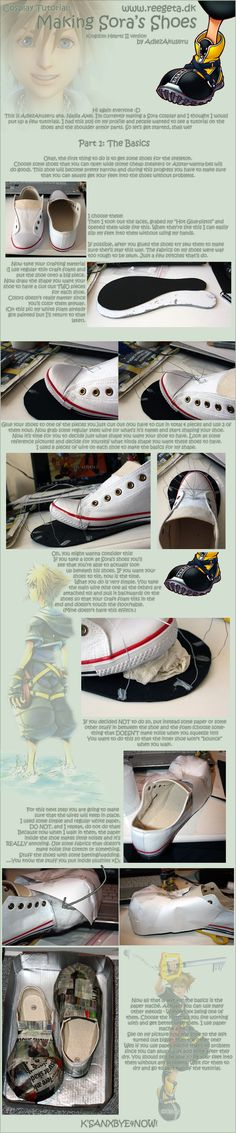 [ During the process of my Sora (Kingdom Hearts II) cosplay I actually managed to do something helpful. ] A new cosplay tutorial, hurray~ According to the poll I created about a week ago people wan. Cosplay Armor, Cosplay Diy, Halloween Cosplay, Best Cosplay, Cosplay Costumes, Cosplay Boots, Kingdom Hearts Cosplay, Sora Kingdom Hearts, Costume Tutorial