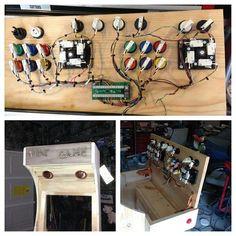 First attempt at building an arcade cabinet Arcade Bartop, Pi Arcade, Arcade Joystick, Retro Arcade Games, Arcade Room, Arcade Cabinet Plans, Retro Pi, Mame Cabinet, Man Cave Arcade