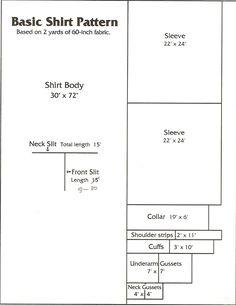 A Woodsrunner's Diary: Shirt/Frock Pattern. Frock Patterns, Clothing Patterns, Sewing Patterns, Shirt Patterns, Men's Clothing, Upcycled Clothing, Clothing Ideas, Mens Shirt Pattern, Pants Pattern
