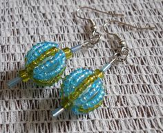 Original, Handmade Glass Beads with French Hook Wire